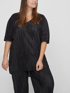 PLEATED 2/4 SLEEVED BLOUSE