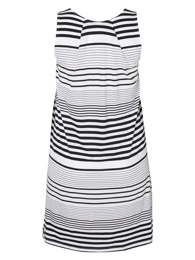 JERSEY- KLEID, Bright White, large