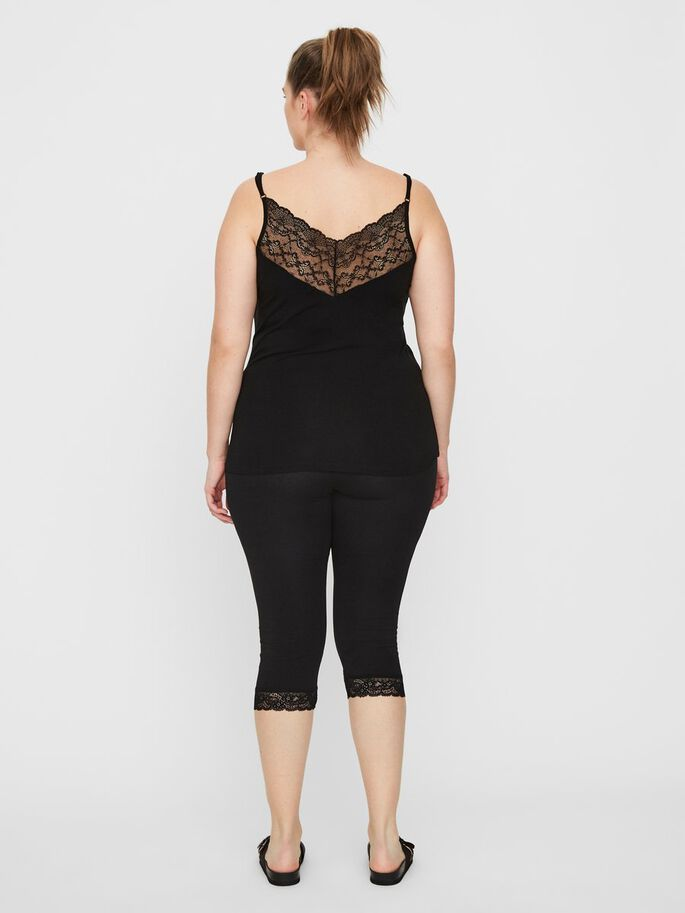 LACE CAMI, Black, large