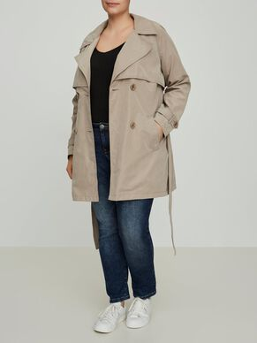 3/4 SLEEVED TRENCHCOAT
