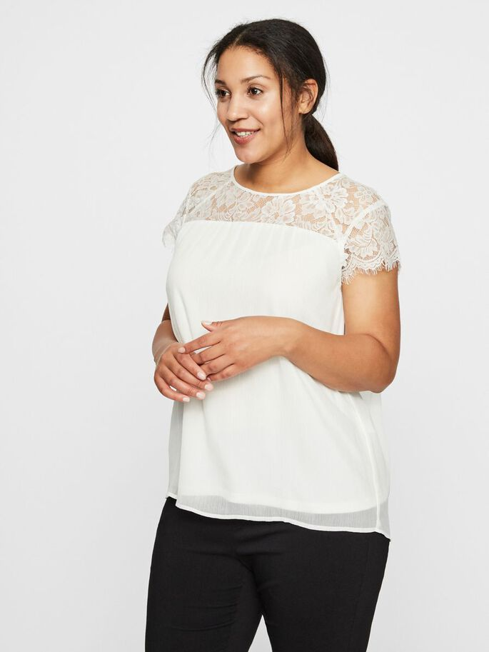 LACE BLOUSE, Snow White, large
