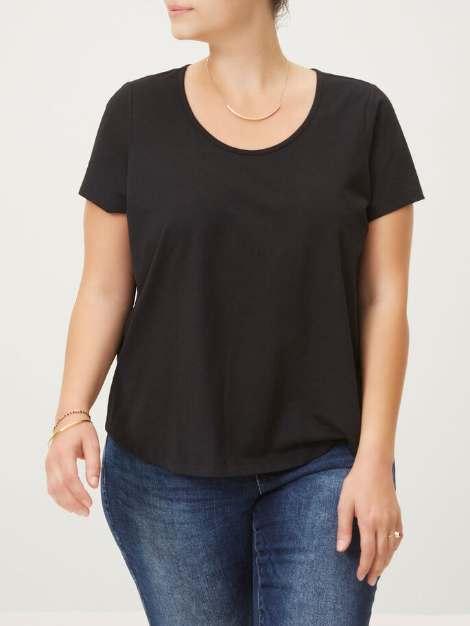 JERSEY T-SHIRT, Black, large