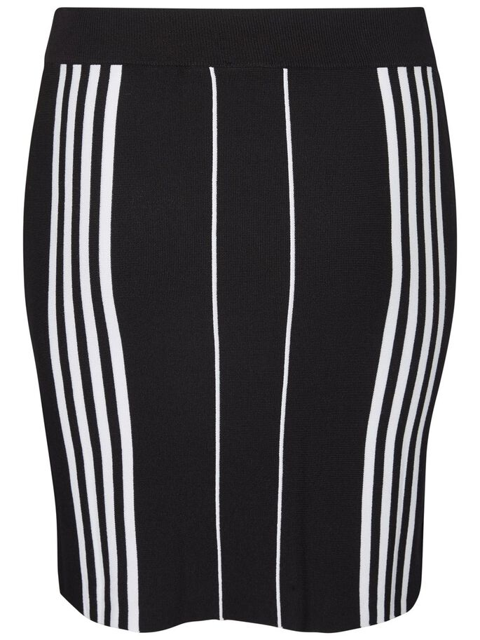 STRIPED SKIRT, Black Beauty, large