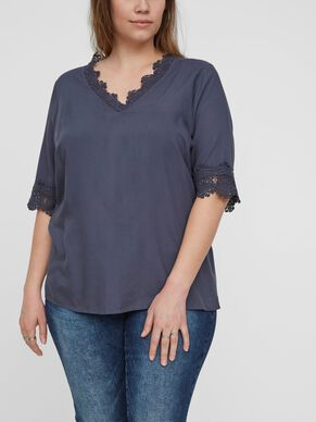 WOVEN 2/4 SLEEVED BLOUSE