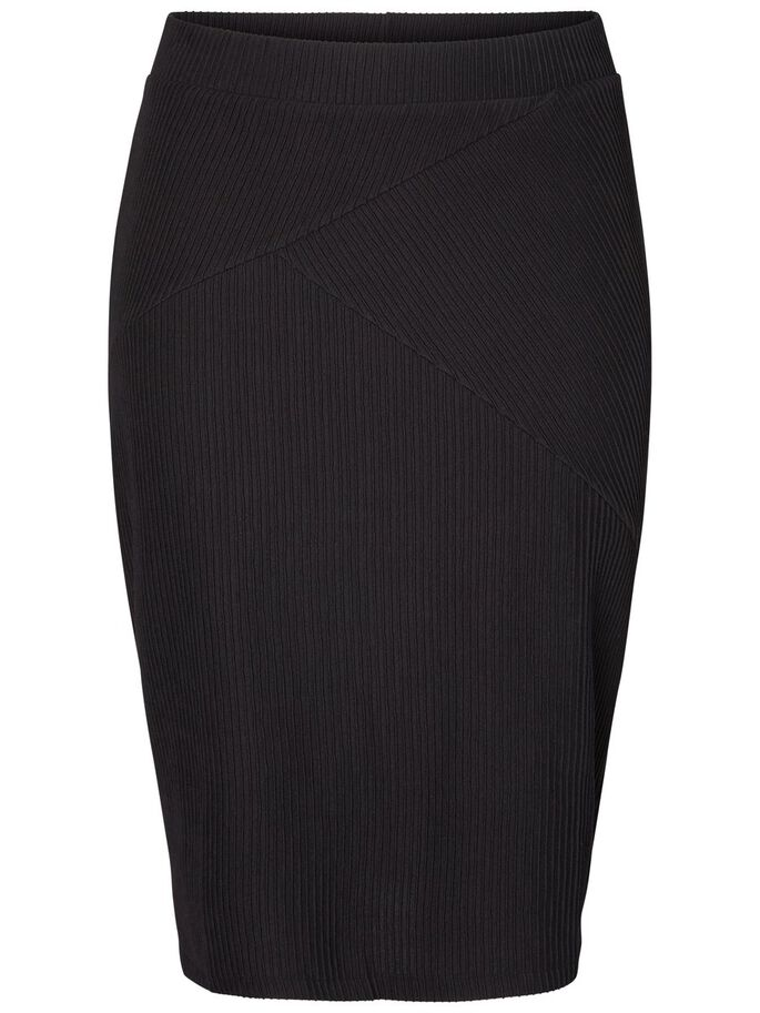 FITTED LONG SKIRT, Black Beauty, large