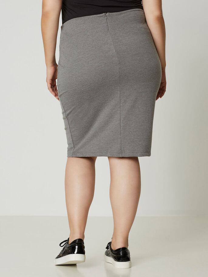 KOKER ROK, Medium Grey Melange, large