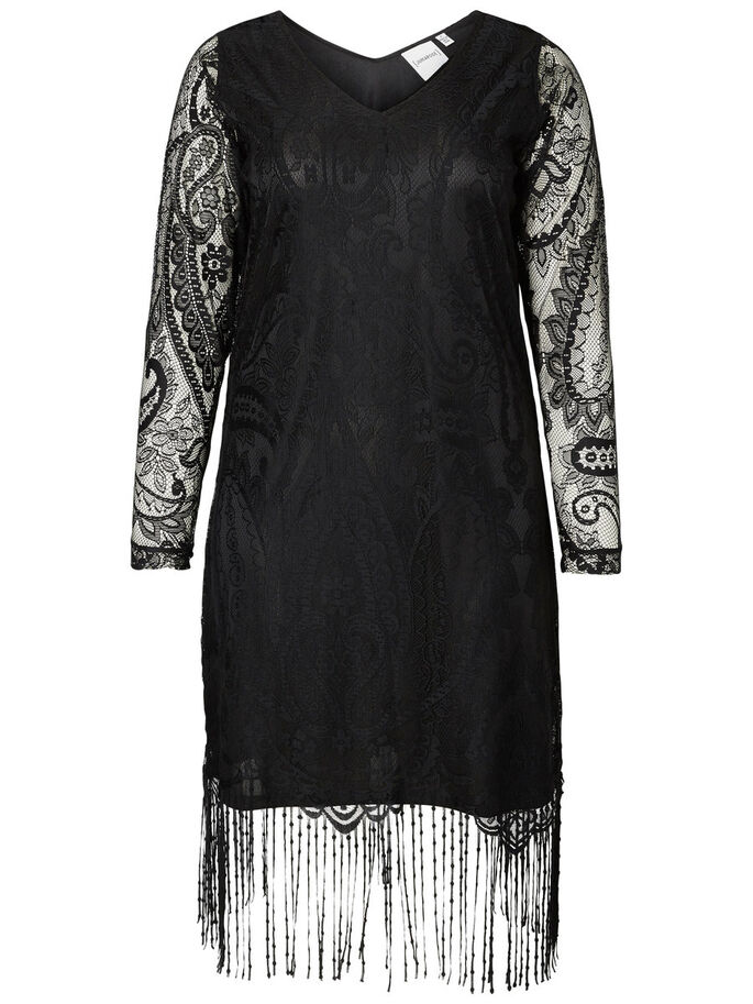 LANGÄRMELIGES KLEID, Black, large