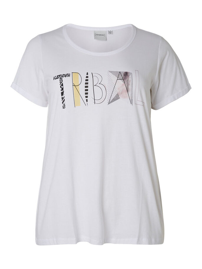 FRONT PRINTED T-SHIRT, Bright White, large