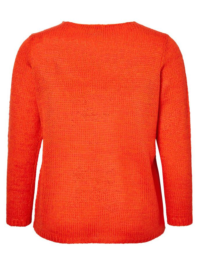 KNIT PULLOVER, Spicy Orange, large