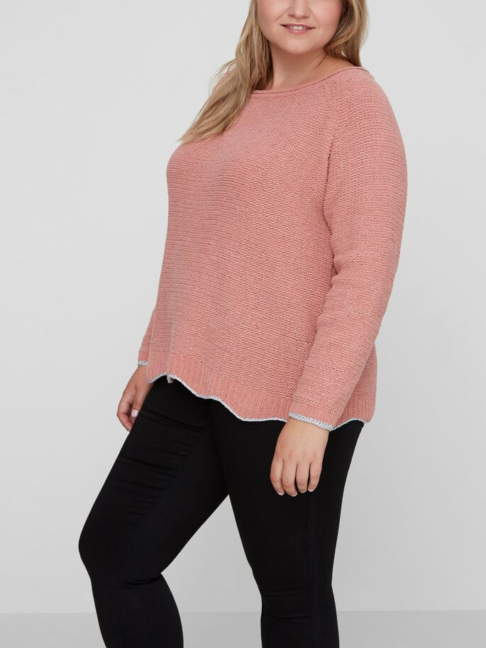 KNITTED PULLOVER, Old Rose, large
