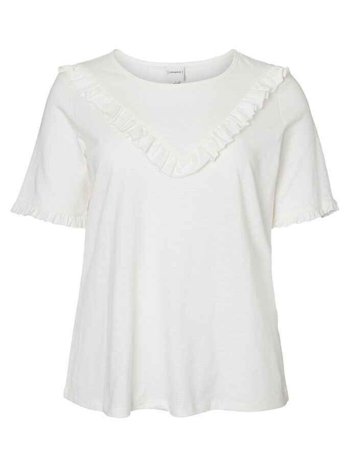 RUFFLE DETAILED 2/4 SLEEVED BLOUSE, Snow White, large
