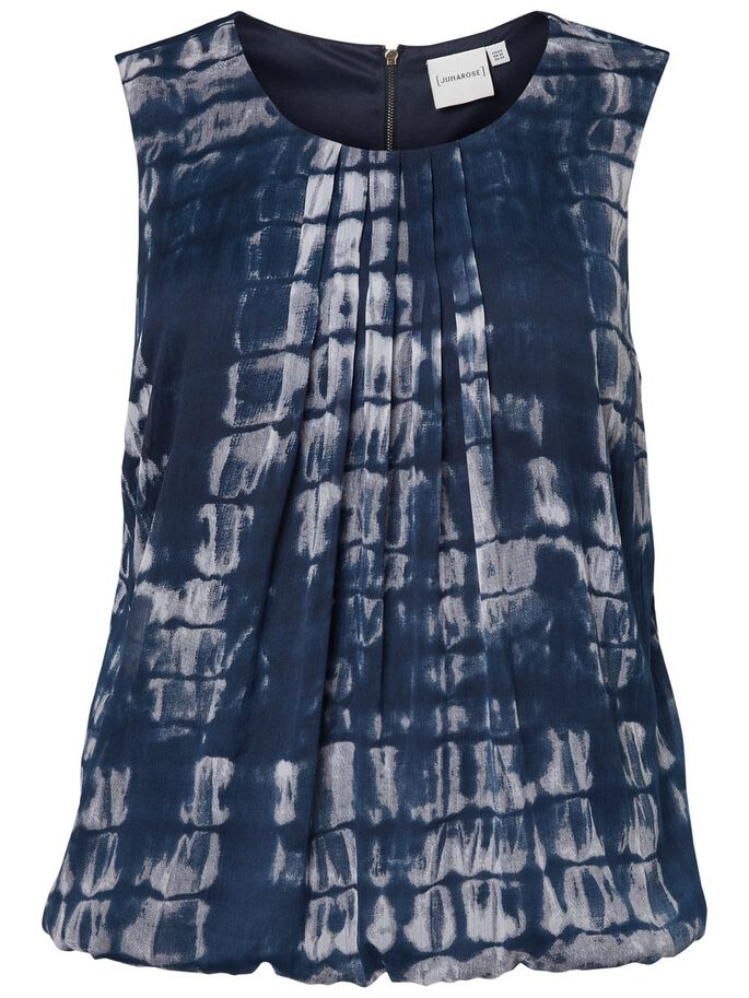 PRINTED SLEEVELESS TOP, Ombre Blue, large