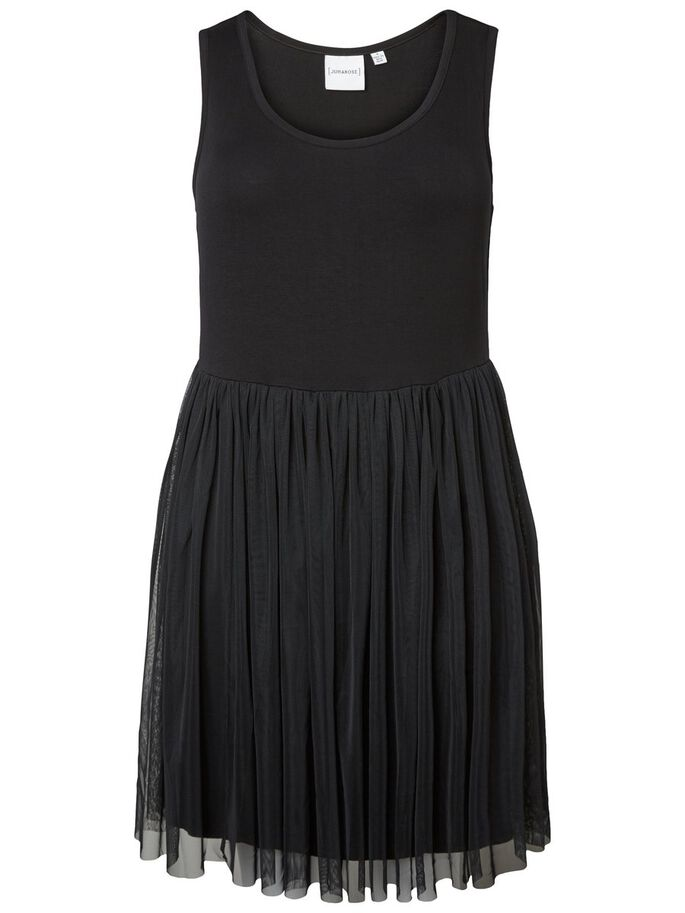 SLEEVELESS DRESS, Black, large