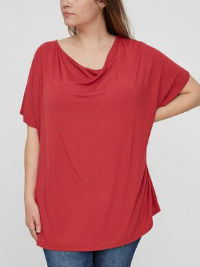 LOOSE FIT SHORT SLEEVED BLOUSE