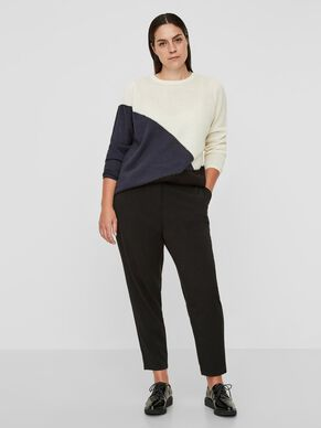 COLOR BLOCKED STRIKKET PULLOVER