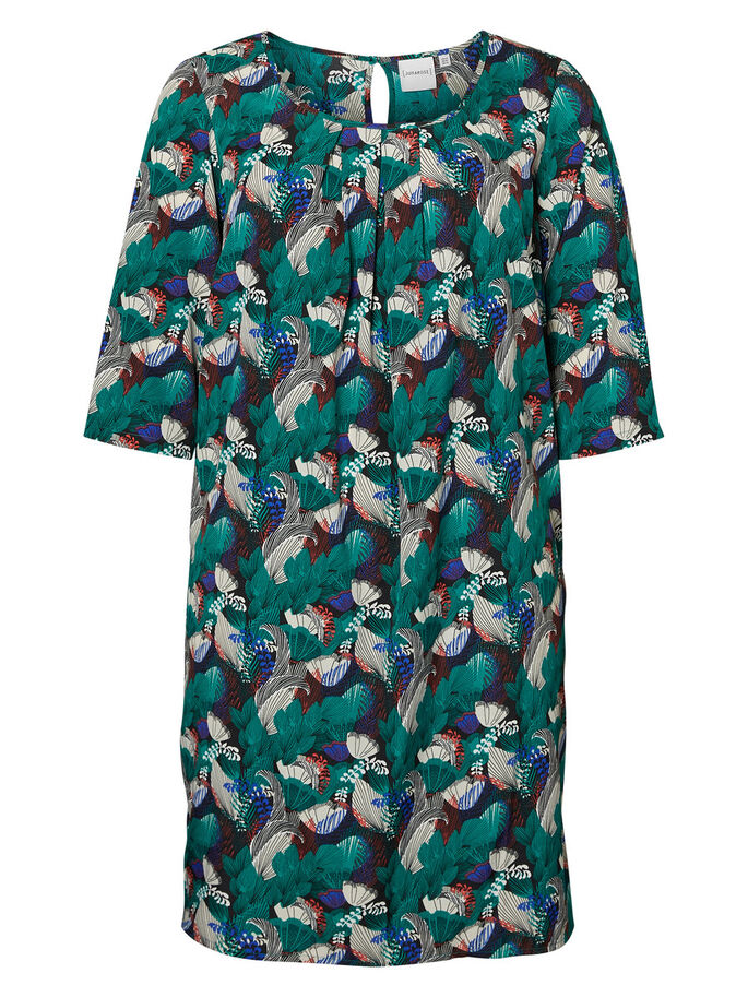 3/4 SLEEVED DRESS, Cadmium Green, large