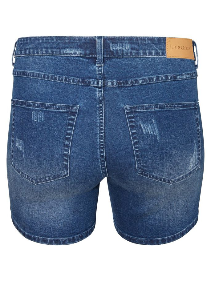 DESTROY DETAILED SHORTS, Dark Blue Denim, large