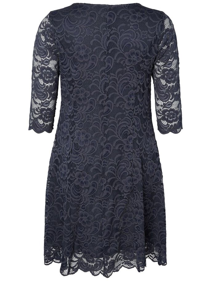 LACE DETAILED DRESS, Ombre Blue, large
