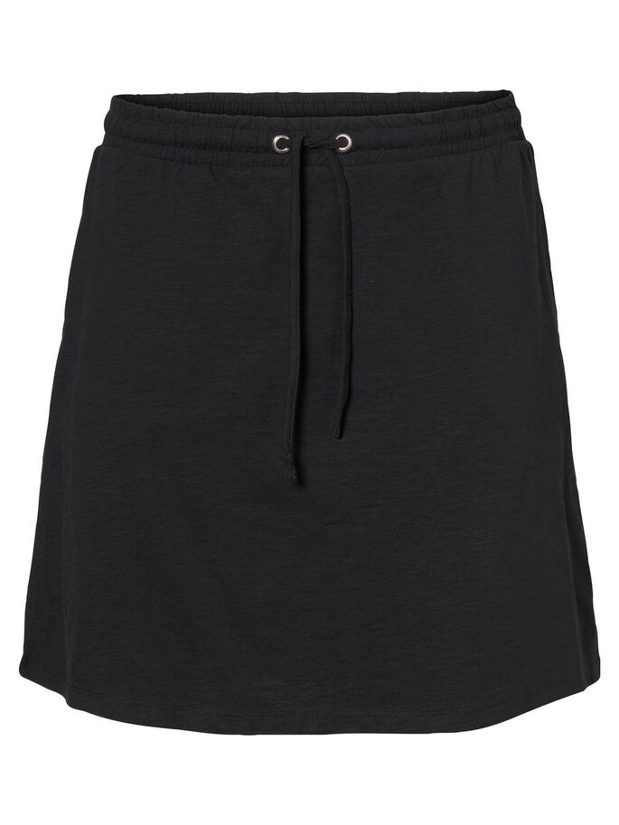 JERSEY SKIRT, Black, large