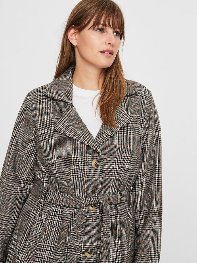 CHEQUERED JACKET, Black, large