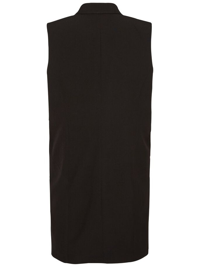 LONG GILET, Black, large