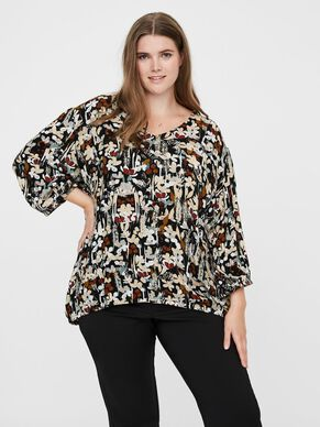 PRINTED LONG SLEEVED BLOUSE
