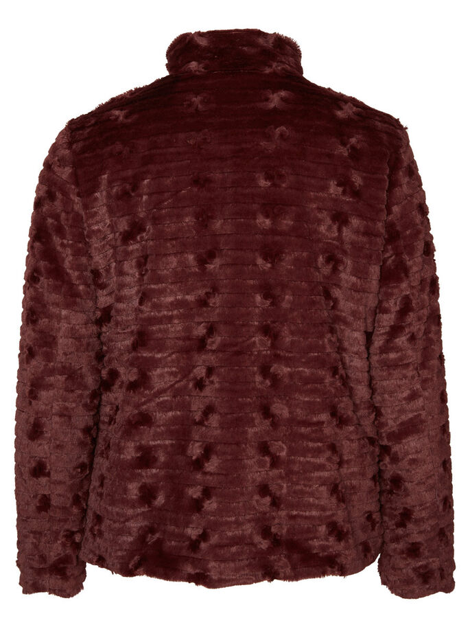 IMITATED PELS JACKET, Decadent Chocolate, large