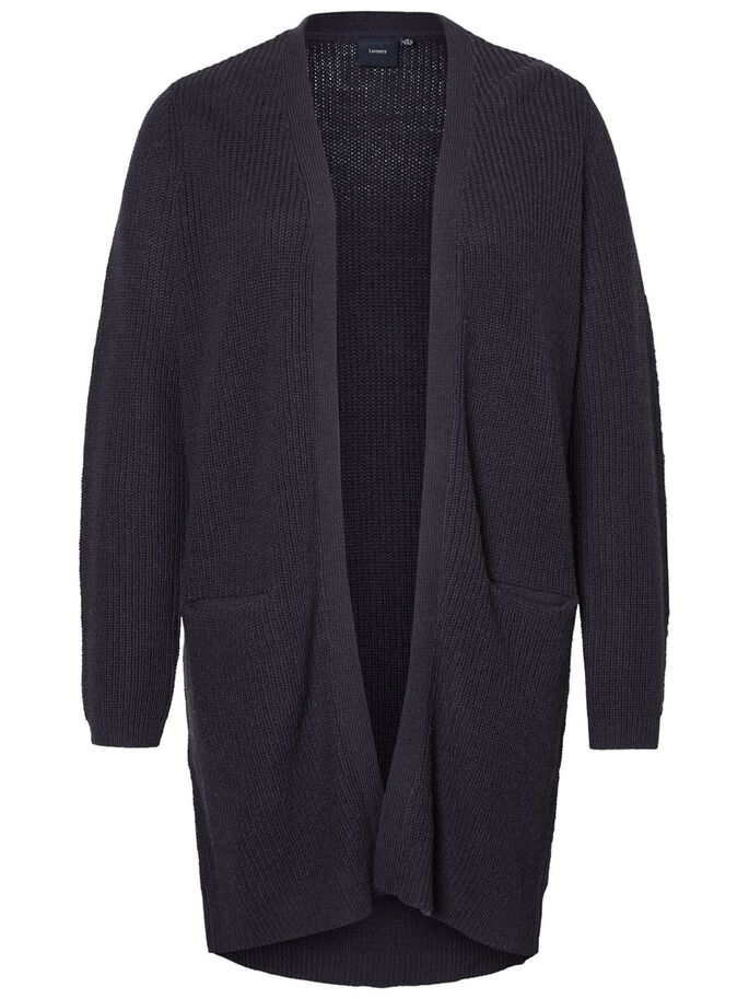KNITTED CARDIGAN, Navy Blazer, large
