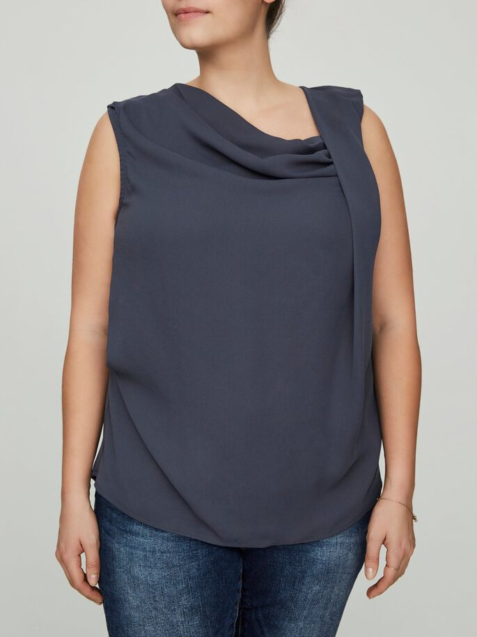 SLEEVELESS BLOUSE, Ombre Blue, large