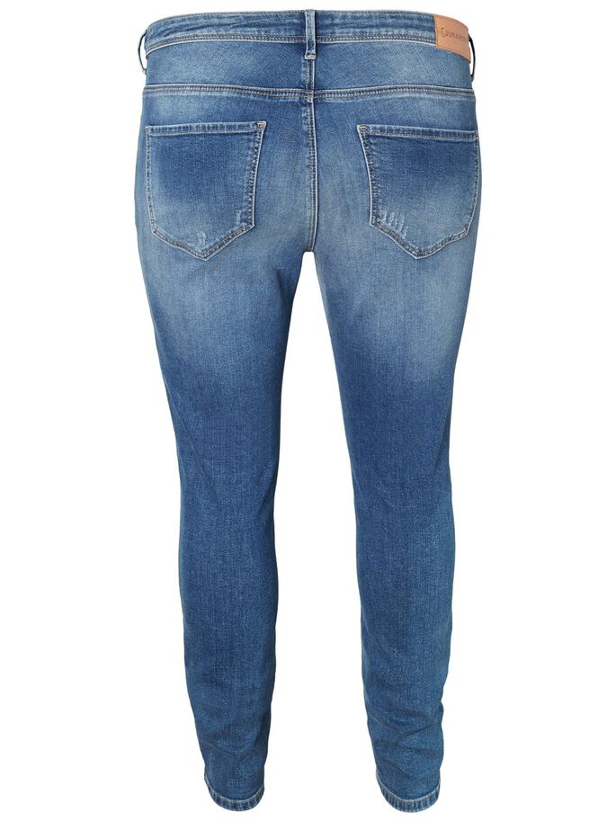 SLIM FIT JEANS, Dark Blue Denim, large
