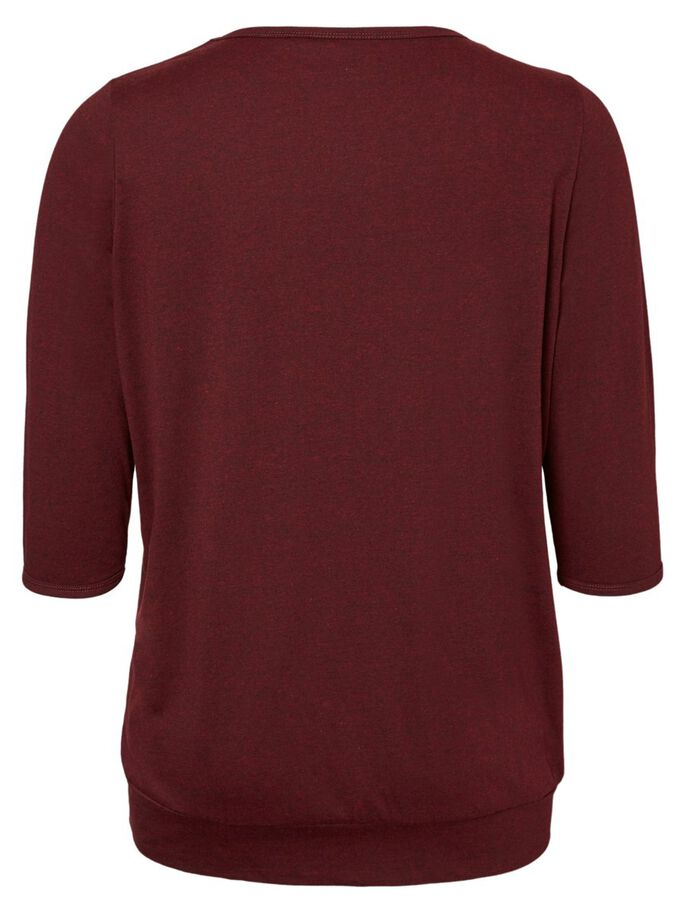 3/4 SLEEVED BLOUSE, Zinfandel, large