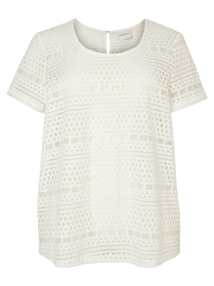 LASERCUT T-SHIRT, Bright White, large