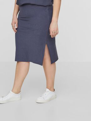 SLIT DETAILED MIDI SKIRT