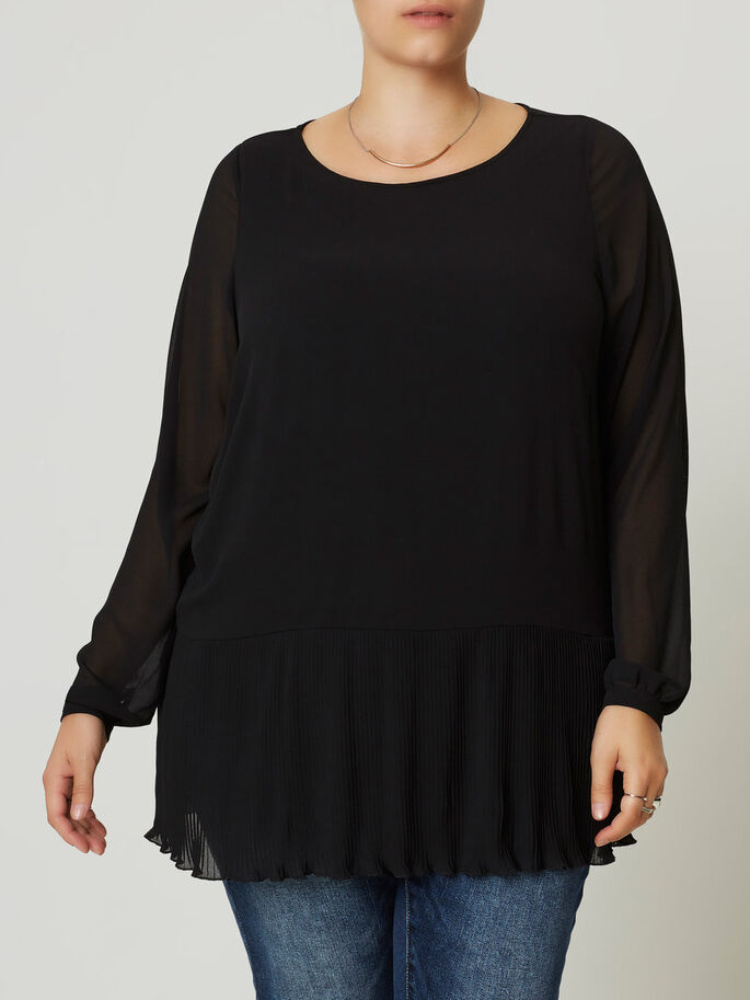 LONG SLEEVED BLOUSE, Black, large