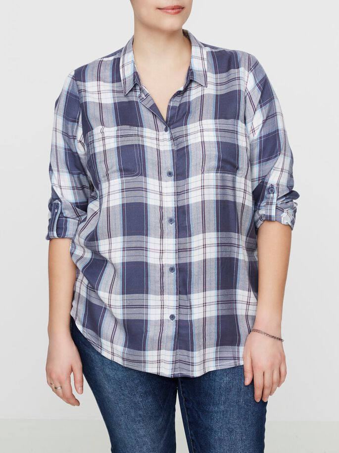 CHECKED SHIRT, Ombre Blue, large