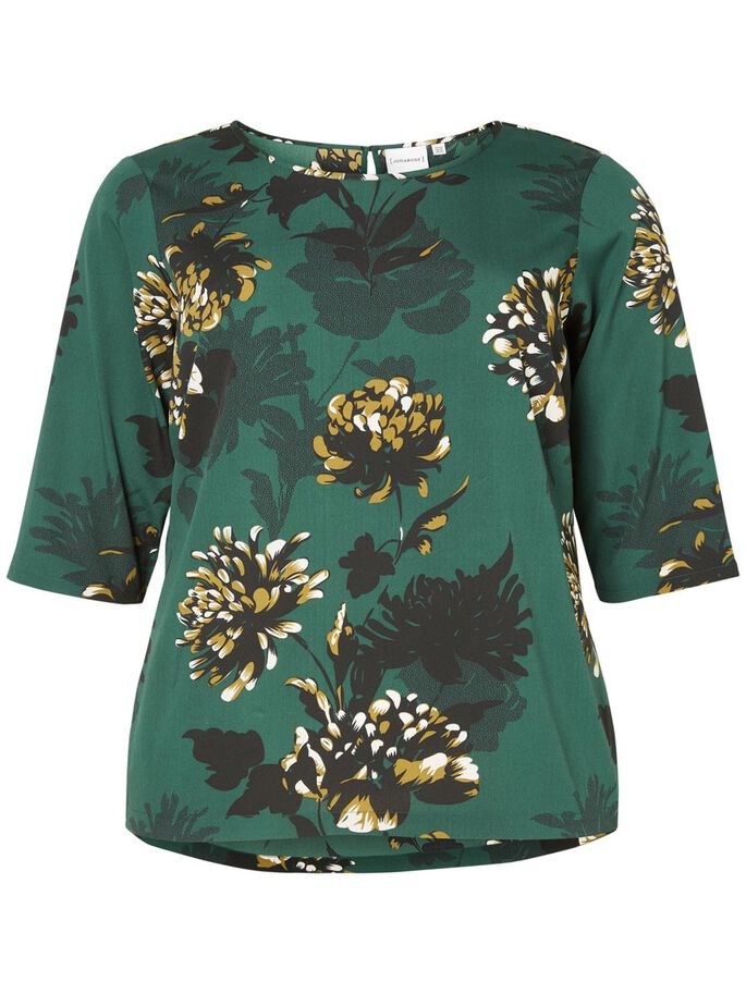 3/4-MOUW BLOUSE, Pine Grove, large