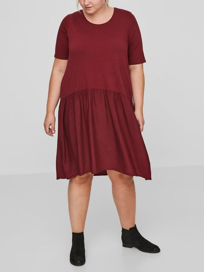2/4 SLEEVED DRESS, Zinfandel, large