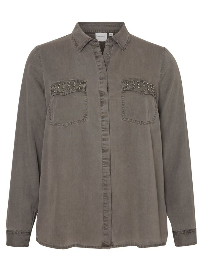 MANCHES LONGUES CHEMISE, Grey, large