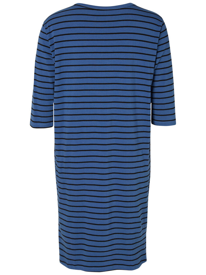 3/4 SLEEVED DRESS, True Navy, large