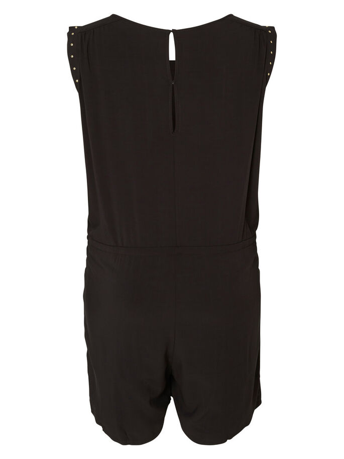 WOVEN PLAYSUIT, Black, large
