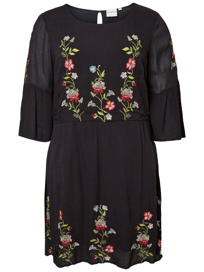 EMBROIDERY DETAILED DRESS, Black Beauty, large