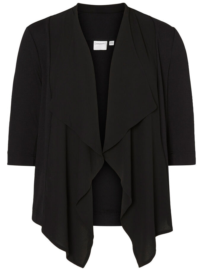 MANCHES 3/4 BLAZER, Black, large