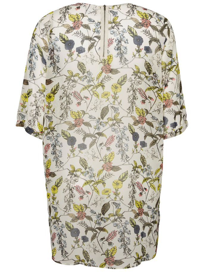 PRINTED 3/4 SLEEVED TUNIC, Snow White, large