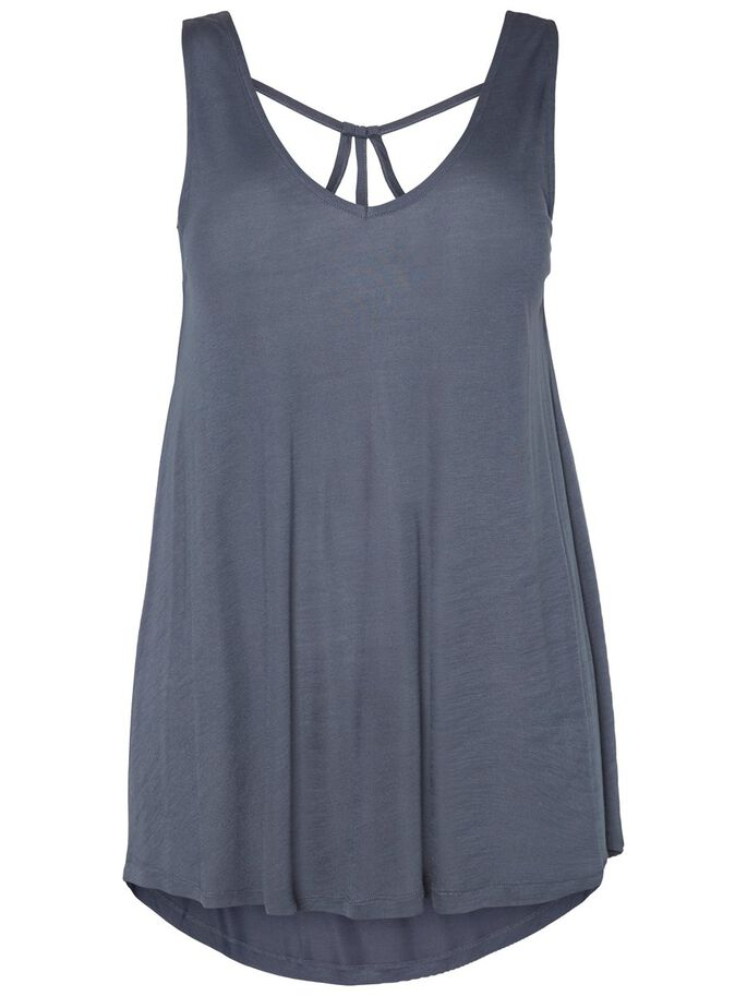 DETAILED SLEEVELESS TOP, Ombre Blue, large