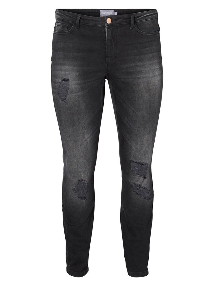 JRFIVE JEANS, Dark Grey Denim, large