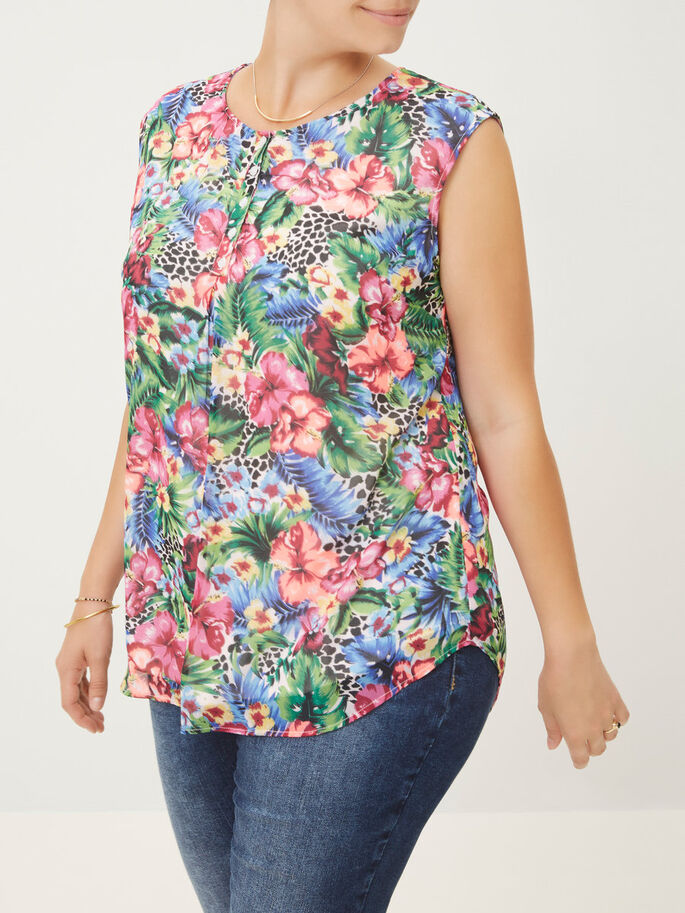 PRINTED SLEEVELESS TOP, Snow White, large