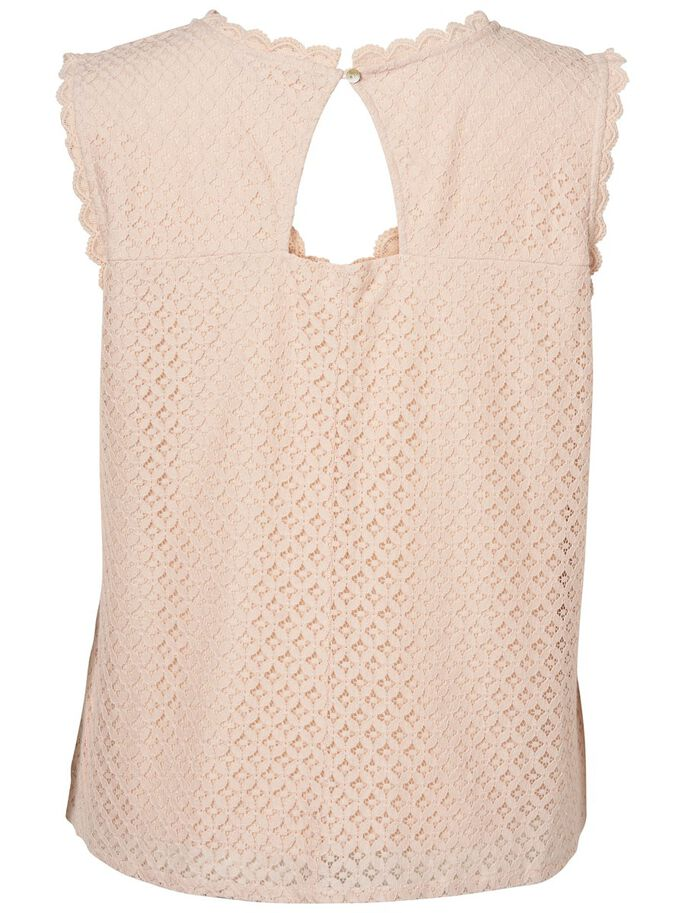 LACE DETAILED SLEEVELESS TOP, Peach Whip, large