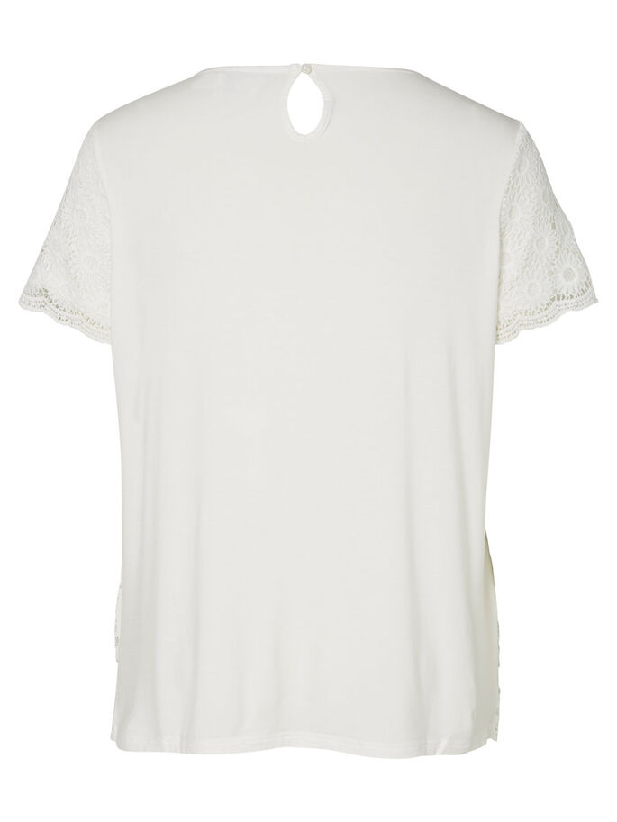 LACE T-SHIRT, Snow White, large
