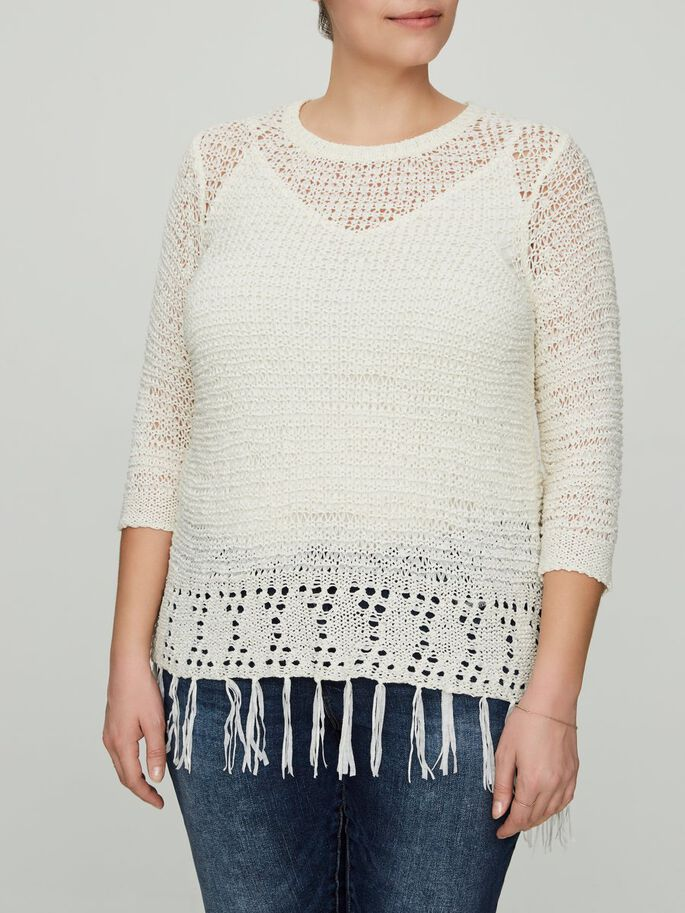 STRIKKET PULLOVER, Snow White, large