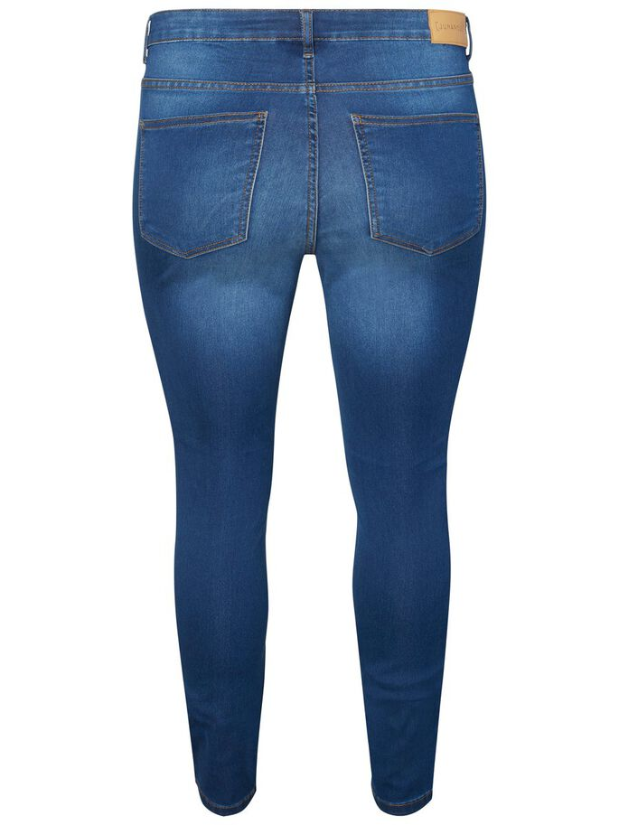 SLIM FIT JEANS, Medium Blue Denim, large